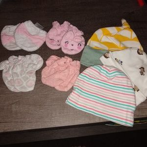 Other - Newborn hats and mittens